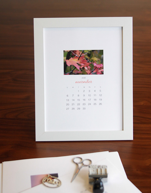 Photo of a framed calendar page DIY