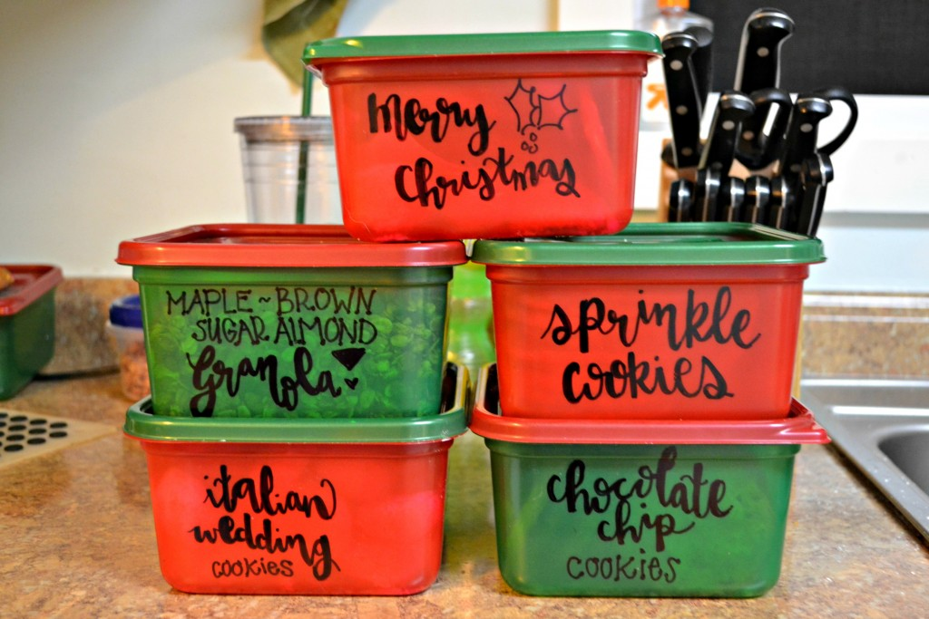 hand lettered containers
