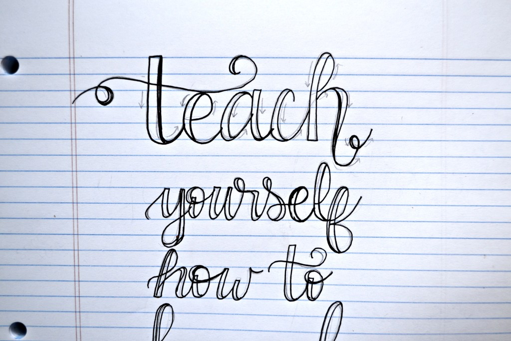 Teach yourself how to hand letter morgan manages mommyhood Handwriting calligraphy