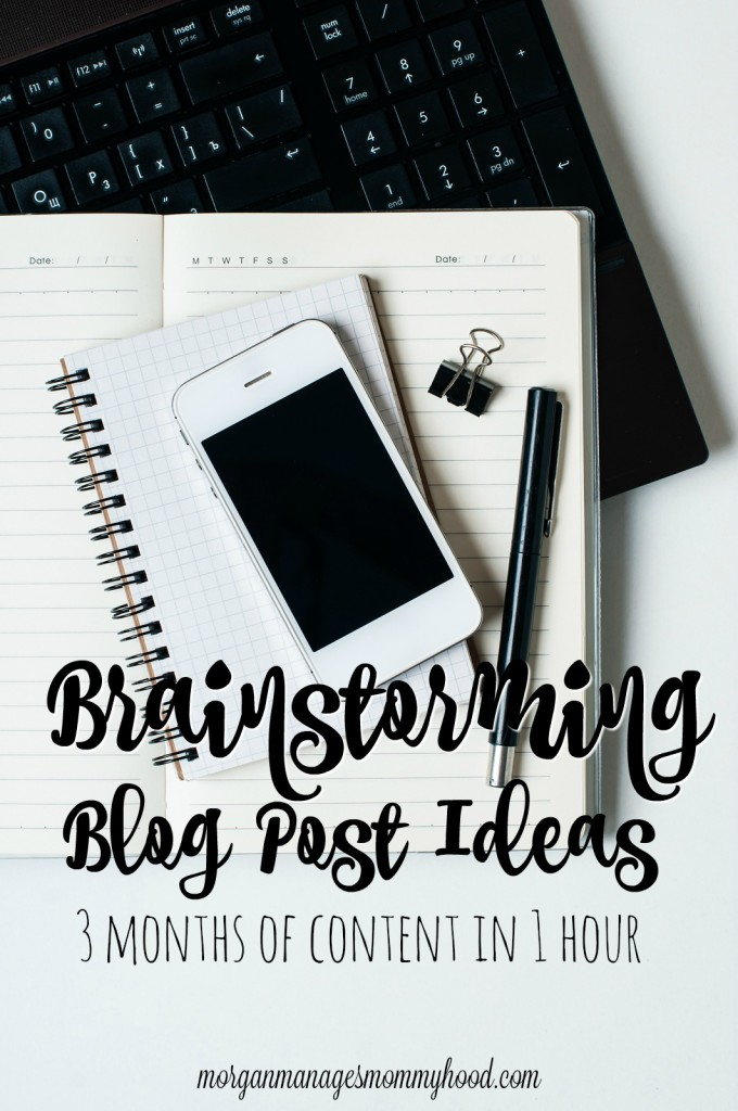 Brainstorming blog post ideas may seem like a daunting task, but it doesn't have to be! Creating an arsenal of blog post ideas helps take the stress out of blogging. Read on to find tips and prompts for collecting blog post ideas, which I've used to create an editorial calendar spanning 3 months in just 1 hour of brainstorming.