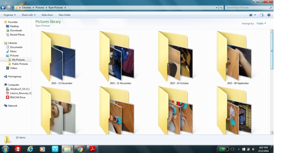Monthly Folders
