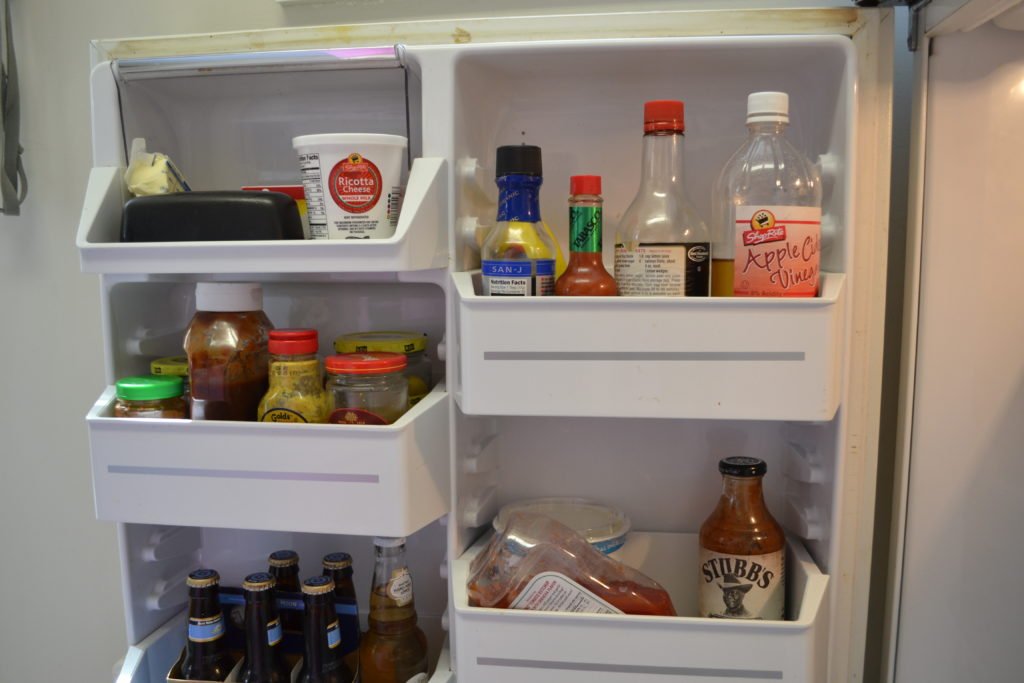 interior condiment door of