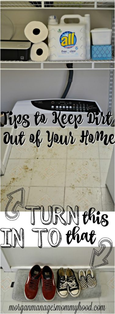 before and after photo showing dirt in the home