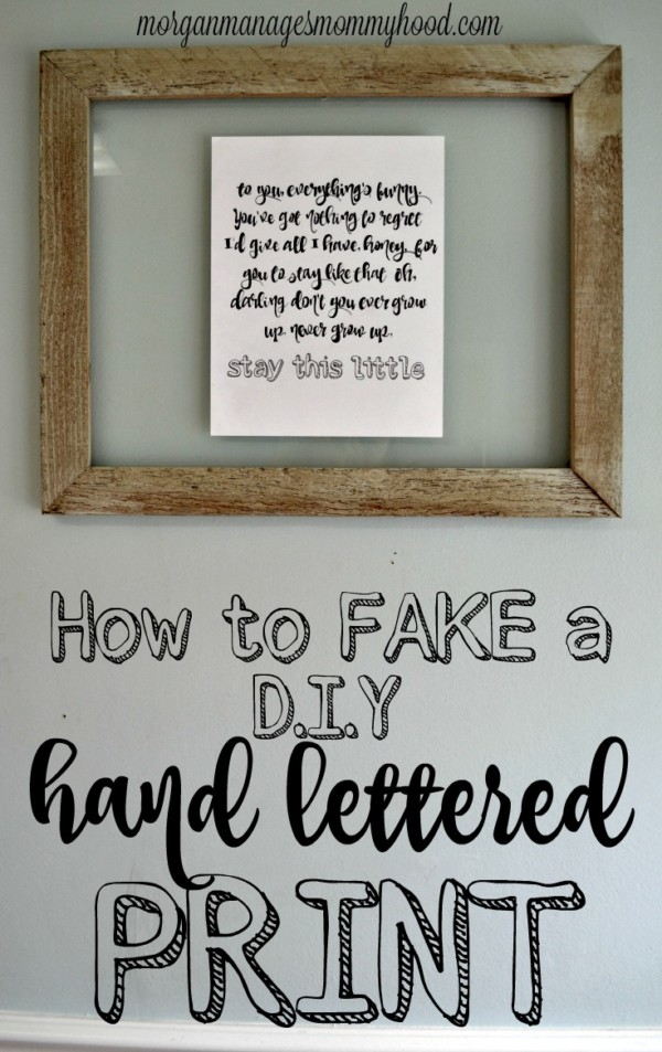 how to hand letter teach yourself how to letter manages mommyhood 22312 | fake a hand lettered print 1