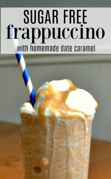 This sugar free frappuccino is a healthier version of a classic favorite. Sweetened only with a homemade date caramel, you'd never know you were eating something good for you! Be able to cool down with a cold blended coffee drink without sacrificing your health of that summer bod you worked so hard on.