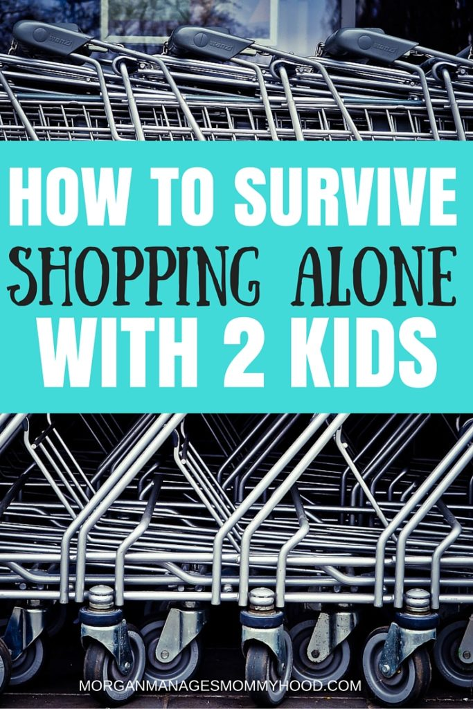 Shopping along with 2 kids can be a daunting task, especially if they are very young. Here are some tips to make your first and every outing run smoothly!