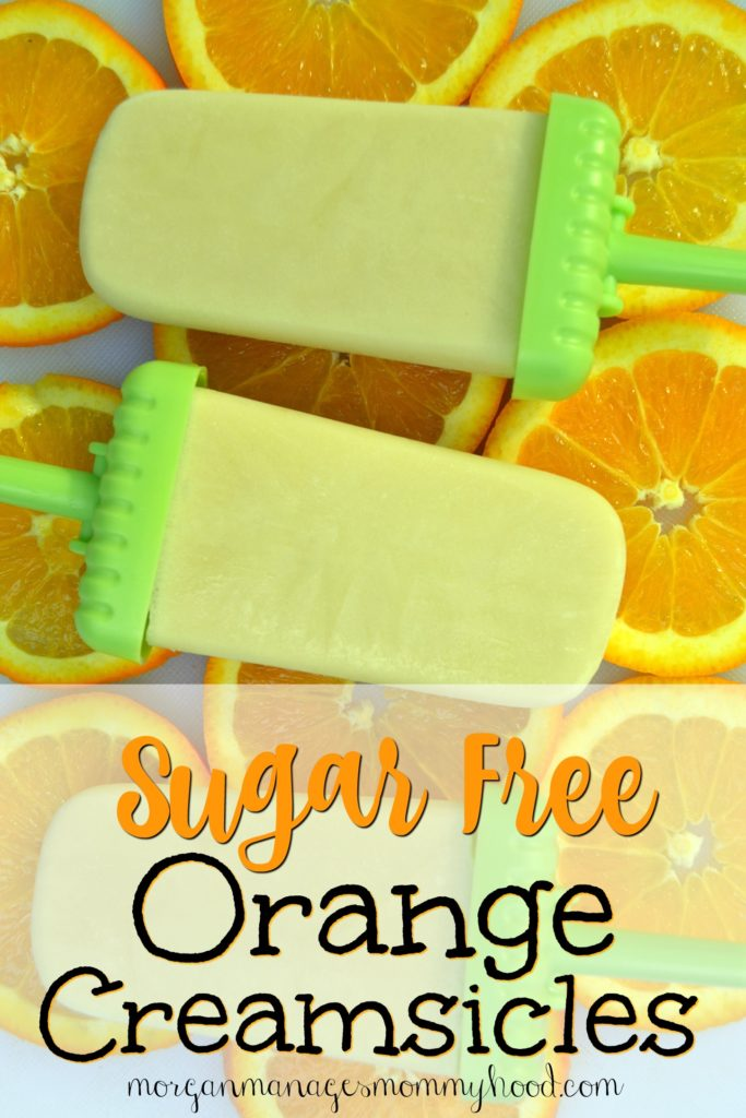 These sugar free orange creamsicles will cool you off without all of the processed junk! You can feel good about serving these 3-ingredient popsicles to your family. Click through to find out just how simple these popsicles are!