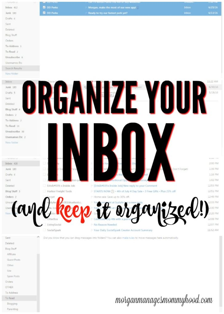 If your email inbox overwhelming you? Learn the easy way to organize your inbox and keep it organized.