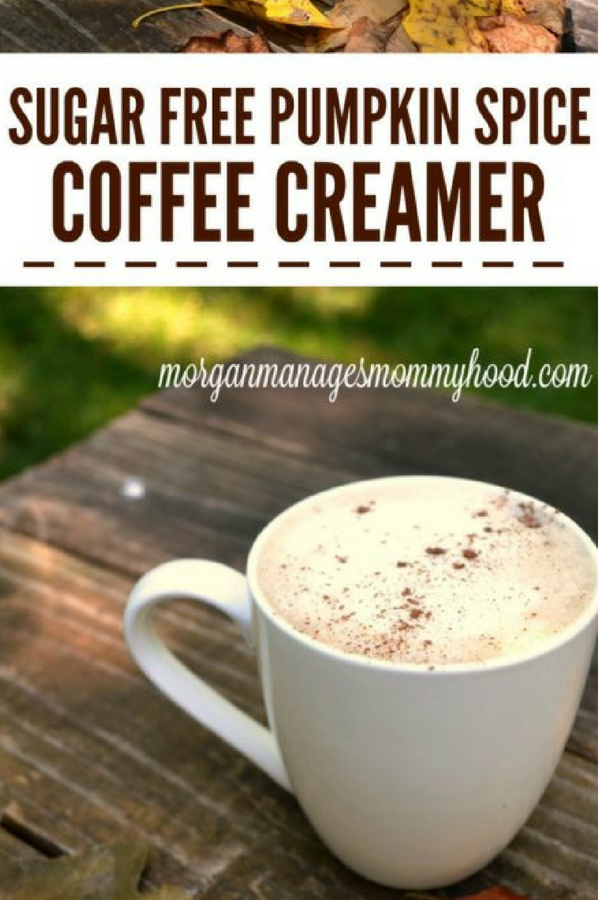 If you're a pumpkin spice fan, you're going to love this Sugar Free Pumpkin Spice Coffee creamer - it has all of your favorite flavors of fall but without all of the sugar! #sugarfree #pumpkinspice #PSL #pumpkinrecipes #pumpkin #pumpkinspicelatte #fallrecipes