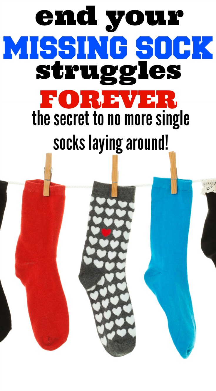 missing socks, missing sock, single sock, mismatched socks, lost sock, lost socks, laundry tips, homekeeping tips