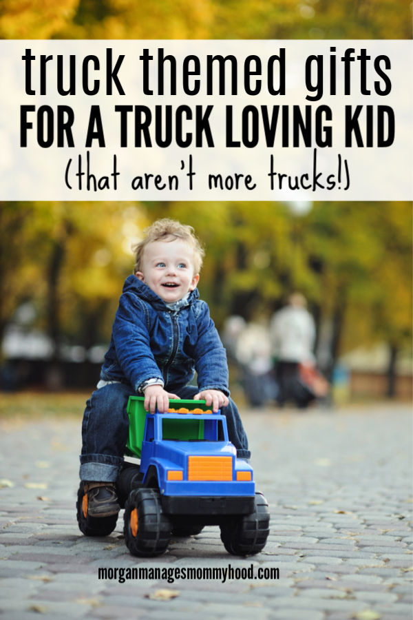 Looking for a gift for kid who loves trucks? This Truck gift guide isn't full of more trucks, but truck themed gifts sure to please your favorite truck lover.#boygiftguide #giftguide #trucktoy #truckgifts #boygift #giftforboys #toddlergifts #toddlerboygifts #christmasgift #christmasgiftguide