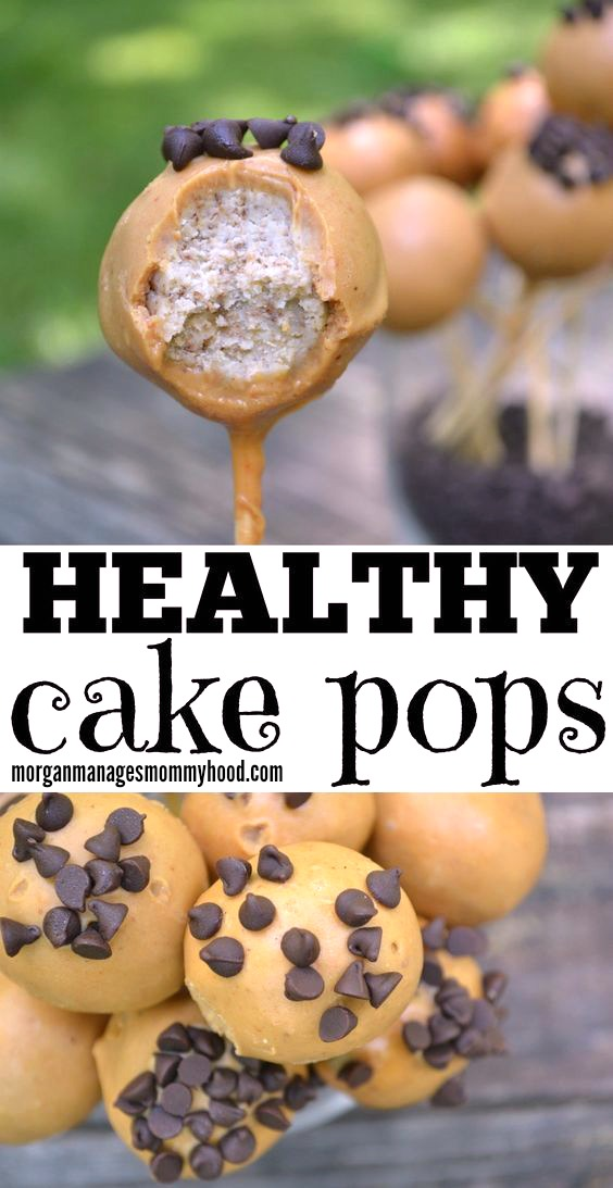 Healthy Cake Pops are the perfect compromise - a treat your kids will absolutely adore, but without the junk. Take your kids favorite treat on a stick and put a healthy, breakfast twist on it with this Healthy Cake Pop recipe with no refined sugar, healthy fats, and a secret ingredient. #healthysnack #cakepop #kidapproved