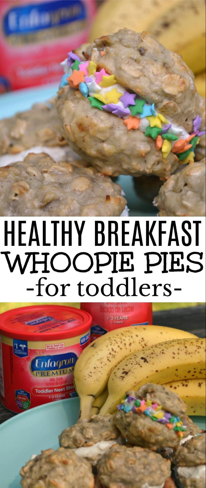Healthy Breakfast Whoopie Pies / healthy breakfast, toddler breakfast, fun breakfast, toddler food, baby led weaning, fun kid food, kid friendly food