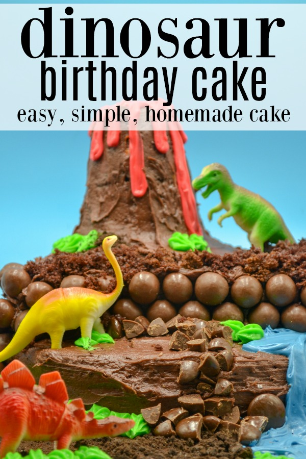 Any dinosaur lover will love this homemade dinosaur birthday cake. Simply made with just a few tools and simple ingredients, it will be a hit at the next birthday party you need to host.