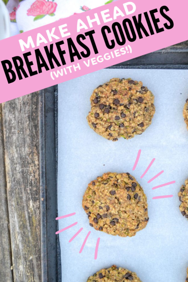 This hidden veggie breakfast cookie recipe is everything a mom could ever want to serve her kids - quick, easy and good for you! A quick breakfast, these breakfast cookies can be made ahead of time and frozen for an easy, healthy breakfast any time of year. #hiddenveggie #hiddenvegetable #makeaheadbreakfast #freezerbreakfast #cookingwithkids #kidsinthekitchen #healthybreakfast